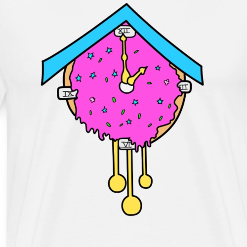 Doughnut Clock - Men's Premium T-Shirt