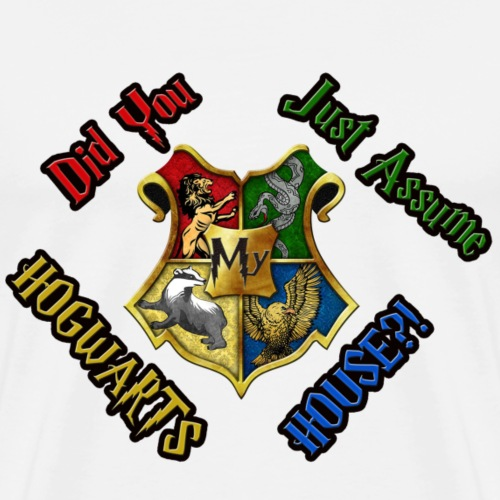Did You Just Assume My Hogwarts House?! - Men's Premium T-Shirt