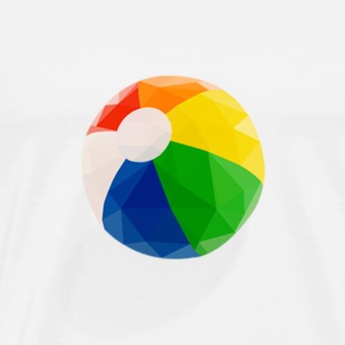 Low-Poly Beach Ball - Men's Premium T-Shirt