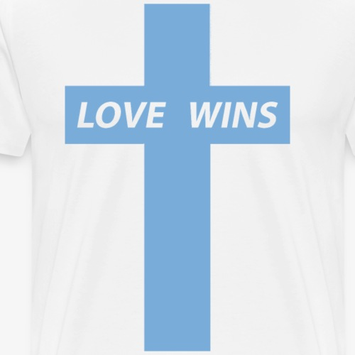 Love Wins (Light Blue) - Men's Premium T-Shirt