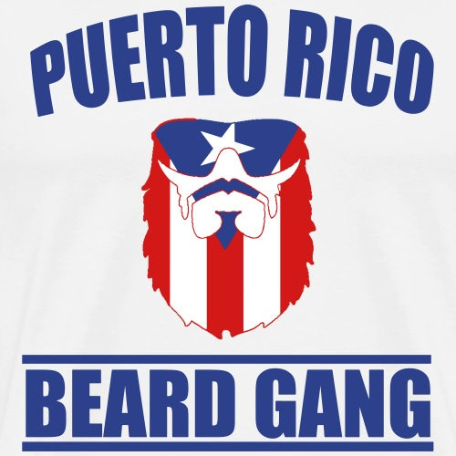 PUERTO RICO Beard Gang - Men's Premium T-Shirt