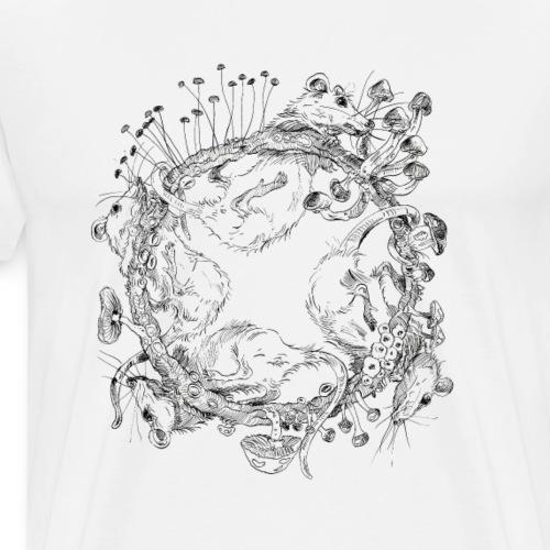 rat race / mushrooms / fungi - Men's Premium T-Shirt