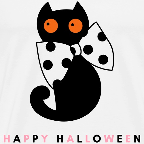 Happy Halloween Cat - Men's Premium T-Shirt