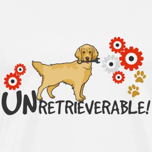 Golden Retriever - Unretrieverable! - Men's Premium T-Shirt