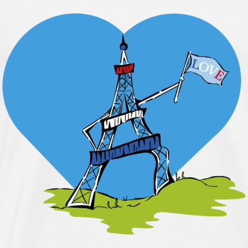 Love Eiffel Tower - Men's Premium T-Shirt