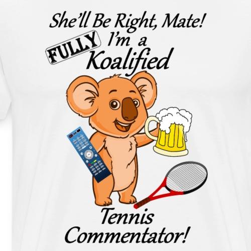 Tennis Commentator Black Letters for Light Clothes - Men's Premium T-Shirt