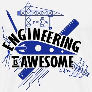 Engineering is Awesome Engineer Shirt - Men's Premium T-Shirt