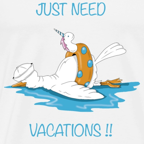 Bird Just need vacations !! - Men's Premium T-Shirt