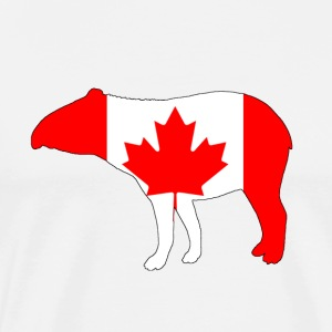 Canada Flag - Tapir - Men's Premium T-Shirt