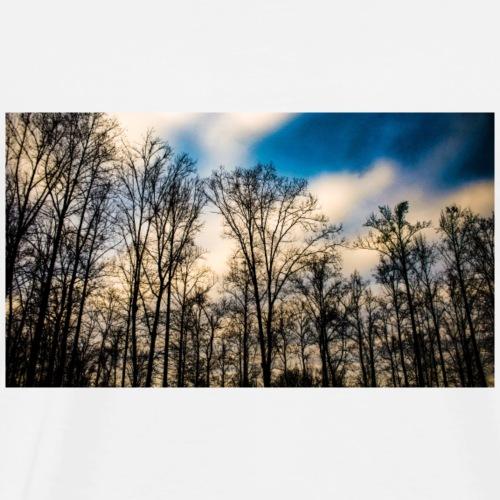Dark Blue Sky With Trees - Men's Premium T-Shirt
