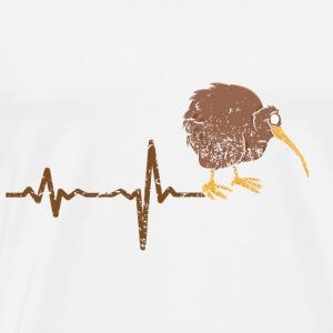 Heartbeat NZ kiwi gift - Men's Premium T-Shirt