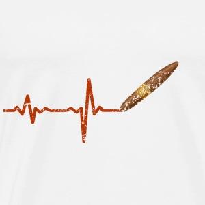 Heartbeat cigar cigarillo gift - Men's Premium T-Shirt