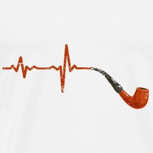 Heartbeat tobacco pipe gift - Men's Premium T-Shirt
