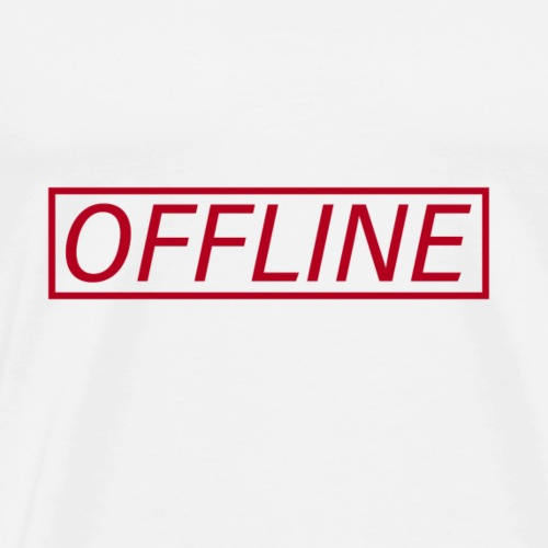 Offline Red - Men's Premium T-Shirt