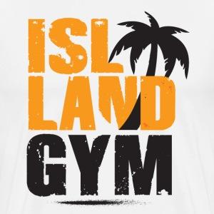 Island Gym 1 white IG - Men's Premium T-Shirt