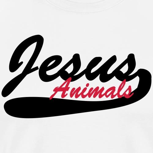 Jesus Animals Original - Men's Premium T-Shirt