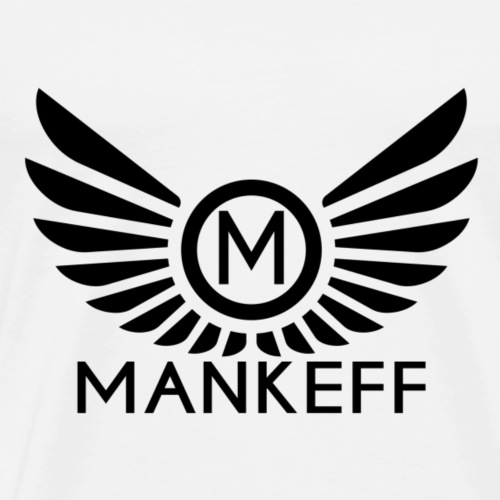 Mankeff Black Logo With Name - Men's Premium T-Shirt
