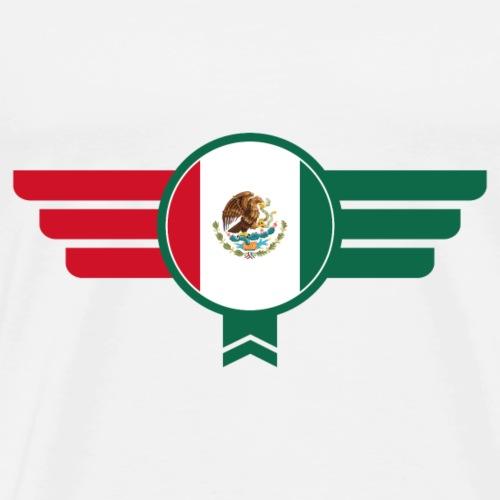 Mexico Badge Emblem Flag - Men's Premium T-Shirt
