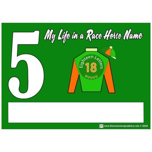 My Race Horse Name: Saddle Cloth #5 - Men's Premium T-Shirt