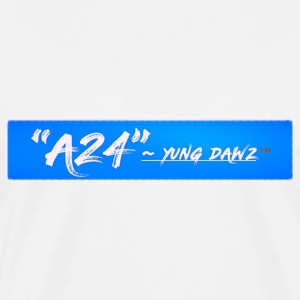 A24 x YUNG DAWZ Blue/White Logo 2018 Edition - Men's Premium T-Shirt