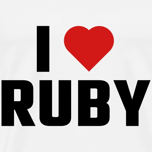 I Love RUBY - Men's Premium T-Shirt