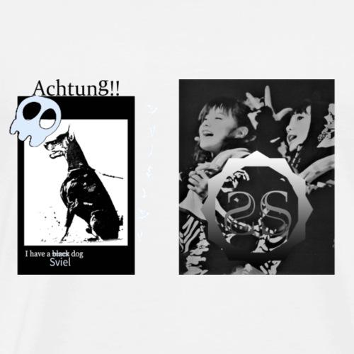 SvielSV BM ss black dog - Men's Premium T-Shirt