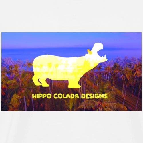 Hippo Colada Designs- Yellow Hippo - Men's Premium T-Shirt