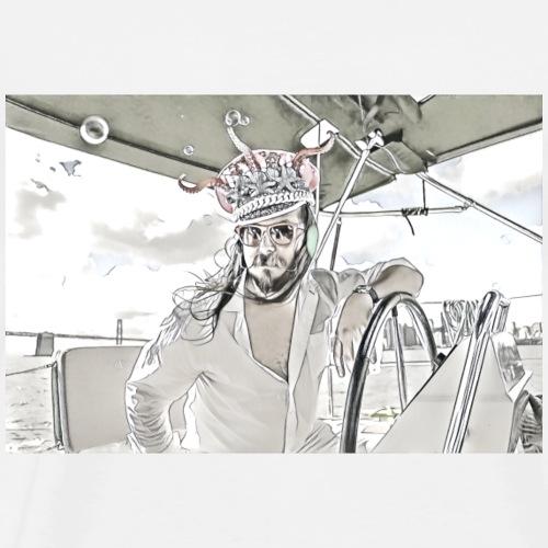 Hippo Colada Designs- Sailing the Bay - Men's Premium T-Shirt