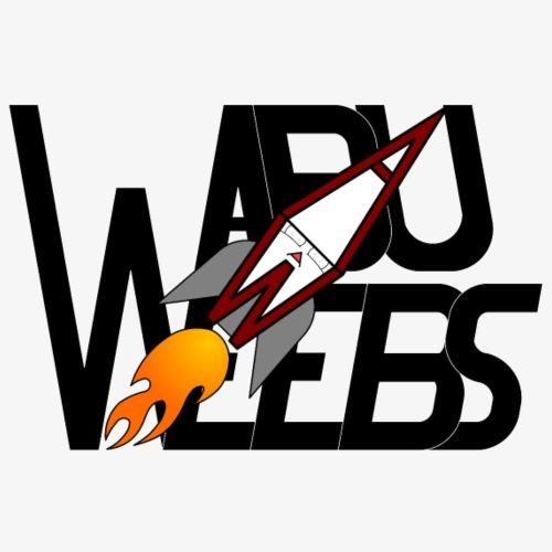 Abuweebs lettering with logo (black) - Men's Premium T-Shirt