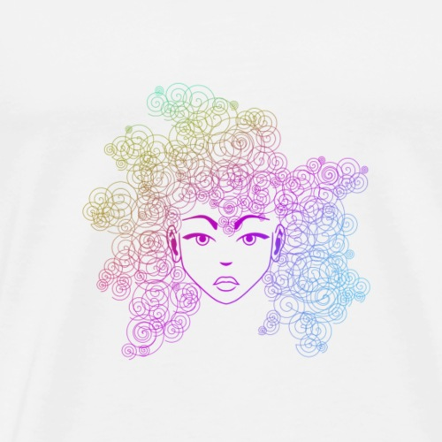 Swirly Girl (Vector) - Men's Premium T-Shirt