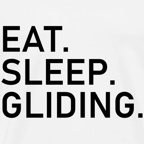 eat sleep gliding soaring pilot - Men's Premium T-Shirt