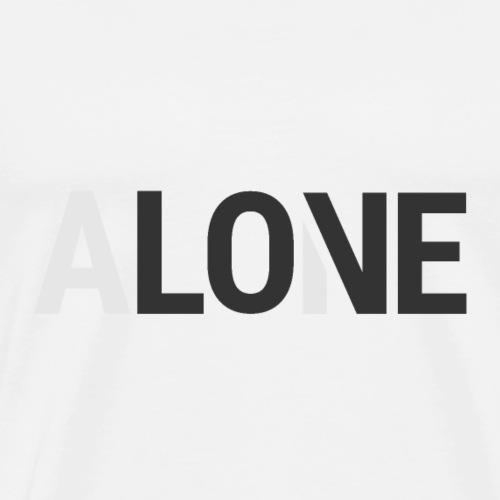 Alone - Love - Men's Premium T-Shirt