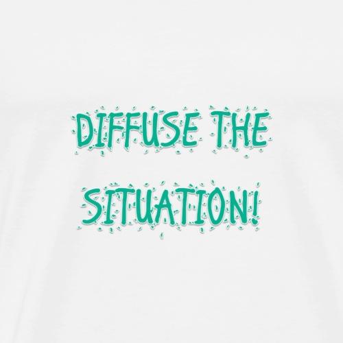DIFFUSE TEAL - Men's Premium T-Shirt