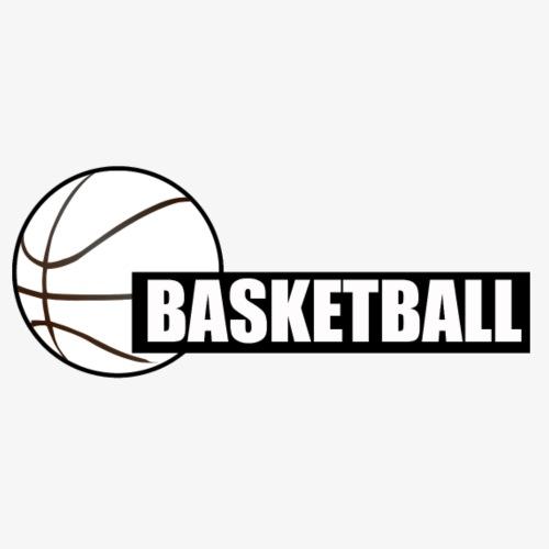 Basketball Block Text - Men's Premium T-Shirt