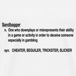 Sandbagger Defined - Men's Premium T-Shirt