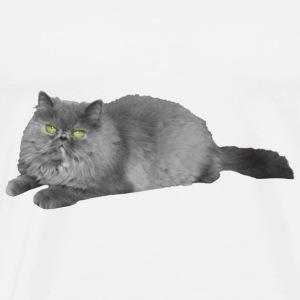 Fluffy cat waiting - Men's Premium T-Shirt