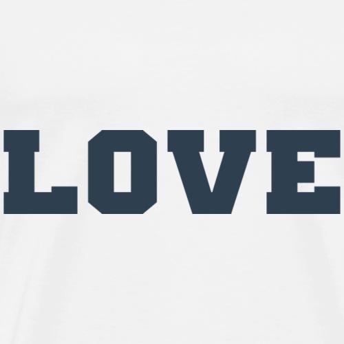 Love (Collegiate Design) - Men's Premium T-Shirt