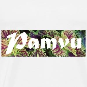 PamvuPurpleGreenleaves - Men's Premium T-Shirt