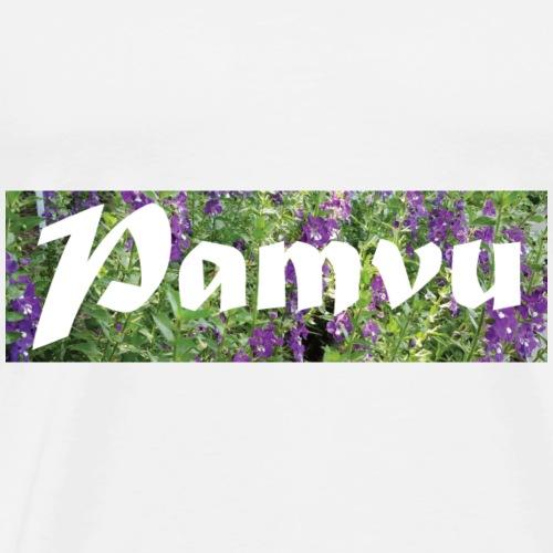 PamvuPurpleGreenflower - Men's Premium T-Shirt