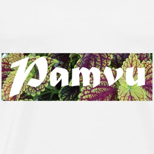 PamvuPurpleGreenleaves2 - Men's Premium T-Shirt