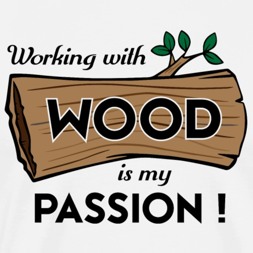 Passion-Design Wood | FP eqz - Men's Premium T-Shirt