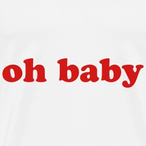 "Super Trendy French Fry graphics ""Oh Baby"" - Men's Premium T-Shirt"