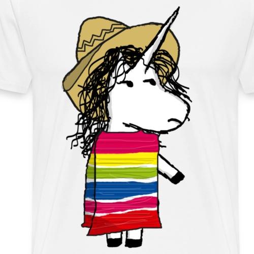 Licorne mexicaine - T-shirt premium pour hommes