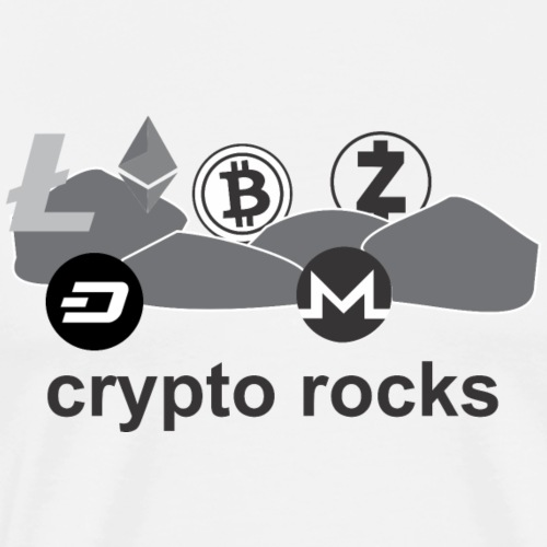 crypto rocks t-shirt - Men's Premium T-Shirt