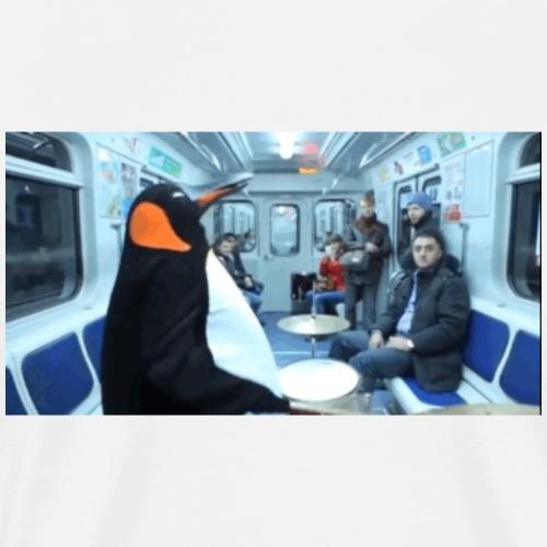 Subway Penguin - Men's Premium T-Shirt