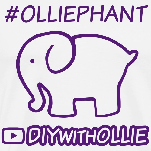 #Olliephant Hashtag with Logo - Men's Premium T-Shirt