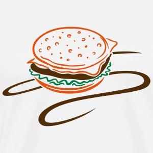 Big burger, hamburger, cheeseburger. - Men's Premium T-Shirt
