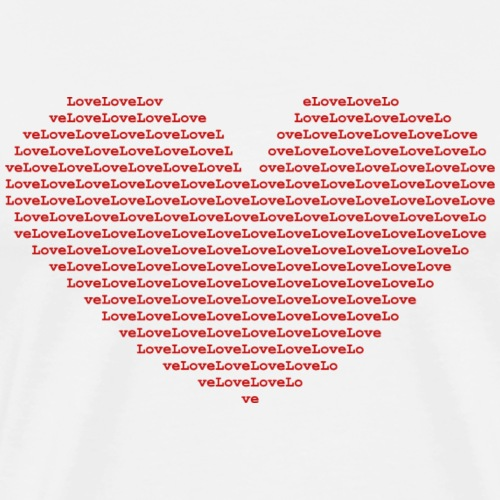 Isle of red Ascii Heart red - Men's Premium T-Shirt