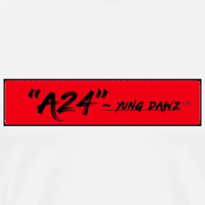 A24 x YUNG DAWZ Red/Black Logo 2018 Edition - Men's Premium T-Shirt
