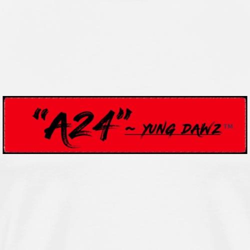 A24 x YUNG DAWZ Red/Black Logo 2018 Edition - Men's Premium T-Shirt